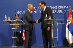 US Vice President Joseph 'Joe' Biden and Serbian PM Aleksandar Vucic. Belgrade, Serbia. 16th August, 2016. US Vice President Joseph 'Joe' Biden and Serbian PM stock photo