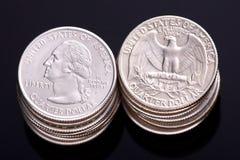 US-Vierteldollar Stockfotografie