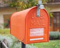 US vintage orange mail box Royalty Free Stock Photos