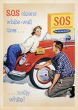 US Vintage Poster card Royalty Free Stock Image