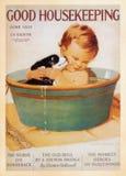 US Vintage Poster card. Printed during World War Ⅱ. - Good Housekeeping Stock Photo
