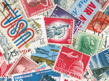 US vintage postmarks Stock Photo