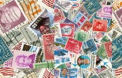 US vintage postmarks stock image