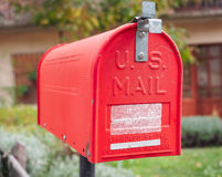 US vintage red mail box Royalty Free Stock Photography