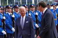 US Vizepräsident Joseph 'Joe' Biden fängt offiziellen Besuch nach Belgrad an Stockbilder