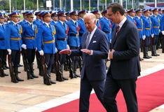 US Vizepräsident Joseph 'Joe' Biden fängt offiziellen Besuch nach Belgrad an Stockfotos