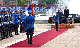 US Vizepräsident Joseph 'Joe' Biden fängt offiziellen Besuch nach Belgrad an Stockfotografie