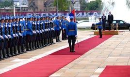 US Vizepräsident Joseph 'Joe' Biden fängt offiziellen Besuch nach Belgrad an Lizenzfreies Stockfoto