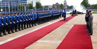 US Vizepräsident Joseph 'Joe' Biden fängt offiziellen Besuch nach Belgrad an Lizenzfreie Stockfotos