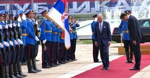 US Vizepräsident Joseph 'Joe' Biden fängt offiziellen Besuch nach Belgrad an Stockfoto
