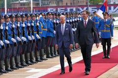 US Vizepräsident Joseph 'Joe' Biden fängt offiziellen Besuch nach Belgrad an Lizenzfreies Stockbild