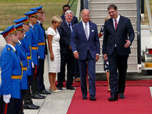 US Vizepräsident Joseph 'Joe' Biden kommt in Belgrad an Stockfotografie