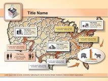 US-Wahlen - infographic Elemente lizenzfreie abbildung