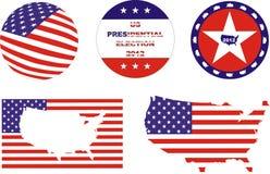 US-Wahlsatz Stockbild