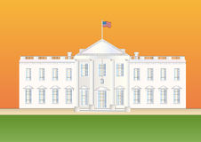 Us white house at sundown Stock Photos