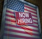 US-Wirtschafts-Jobs Lizenzfreie Stockfotografie