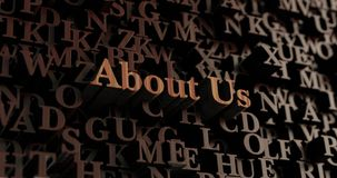About Us - Wooden 3D rendered letters/message Royalty Free Stock Photography