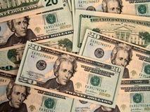 US Zwanzig Dollarscheine Stockbild