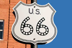 US66 Sign Royalty Free Stock Image
