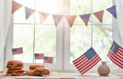 USA är firar 4th Juli Arkivbilder