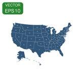 USA översiktssymbol Pictogram för affärsidéAmerika politik Vecto Fotografering för Bildbyråer