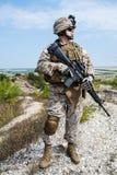 USA żołnierz piechoty morskiej Obrazy Royalty Free
