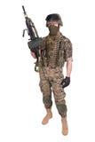 USA żołnierze piechoty morskiej z M249 maszynowym pistoletem Obraz Royalty Free