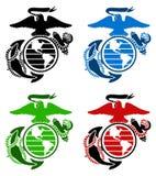 USA żołnierzy piechoty morskiej emblemat Zdjęcia Stock