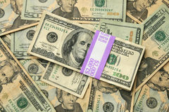 Usa 100 and 20 dollar bills Royalty Free Stock Photos