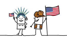 USA !. Vector hand-drawn characters line Stock Image