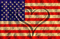Usa. America flag illustration, computer generated Stock Photos