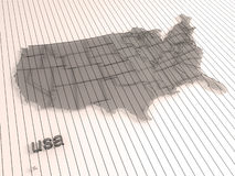 Usa. 3d map of usa Stock Images