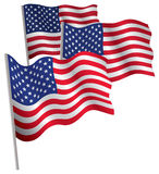USA 3d flag. Stock Image