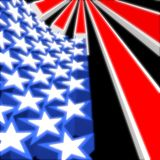 USA 3D Flag. The United States of America 3D flag concept Stock Image