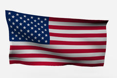 USA 3d flag. Isolated on white background Stock Photos