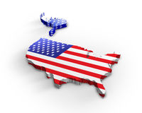 Usa 3d map Royalty Free Stock Image