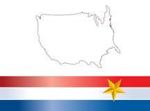 Usa. America map and flag design Stock Photos
