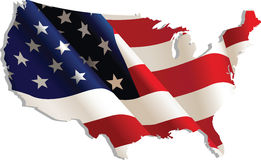 USA. Flag in map, Vector Illustration Stock Image