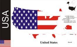 USA. Flag and area vector illustration vector illustration
