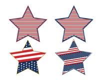 USA Abstract American Flag Patriotic Star Symbol Set. USA Abstract American Flag Patriotic Star Background Symbol Set royalty free illustration