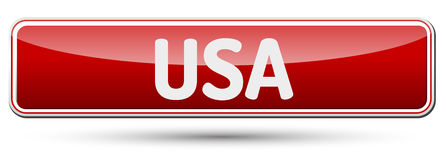 USA - Abstract beautiful button with text. Royalty Free Stock Photo