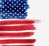 USA Independence day background. USA abstract flag brushed background. Vector abstract grunge brushed flag. Template for holiday banner, greeting card Royalty Free Stock Photo