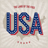 USA abstract poster design Stock Images
