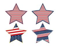 USA Abstrakcjonistycznej flaga amerykańskiej symbolu Patriotyczny Gwiazdowy set royalty ilustracja