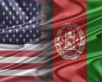 USA and Afghanistan. Royalty Free Stock Image