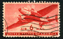 USA Air Mail Stamp Stock Photo