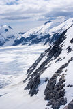 USA - Alaska - Aerial view of  mountains. USA - Alaska - Aerial view of rugged snow covered mountains near Juneau Stock Image
