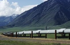 USA Alaska Dalton Highway pipeline in valley Stock Image