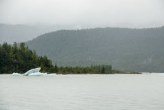 USA Alaska - Mendenhall Glacier and Lake Stock Image