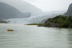 USA Alaska - Mendenhall Glacier and Lake Stock Photo
